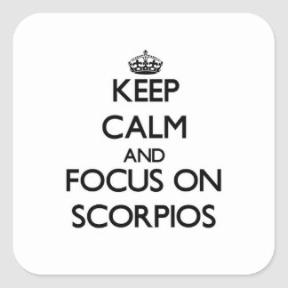 Mantenha a calma e o foco em Escorpiões