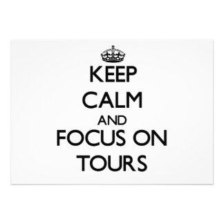 Mantenha a calma e o foco em excursões convite personalizados