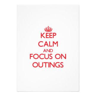 mantenha a calma E O FOCO em excursões Convite Personalizado