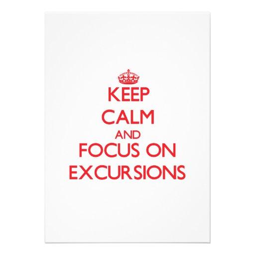 Mantenha a calma e o foco em EXCURSÕES Convites