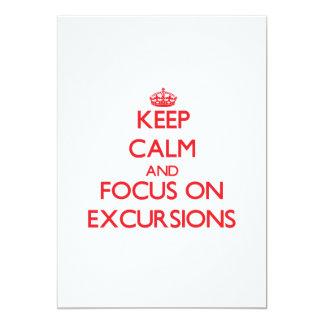 Mantenha a calma e o foco em EXCURSÕES Convite 12.7 X 17.78cm