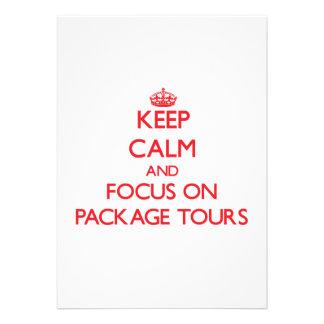 mantenha a calma E O FOCO em excursões de pacote