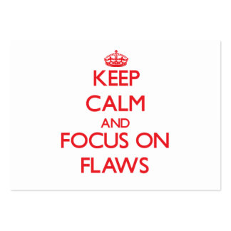 Mantenha a calma e o foco em falhas