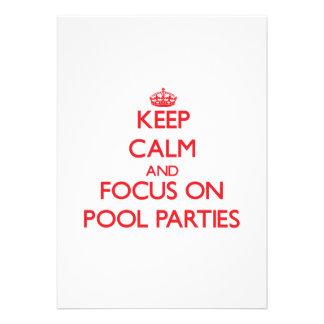 Mantenha a calma e o foco em festas na piscina