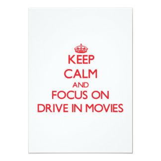 Mantenha a calma e o foco em filmes do cinema ao convite