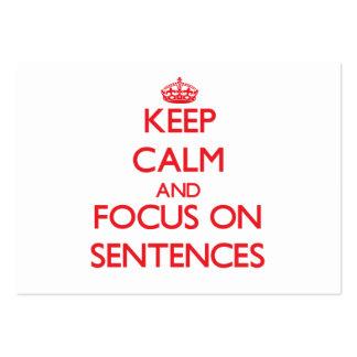 Mantenha a calma e o foco em frases