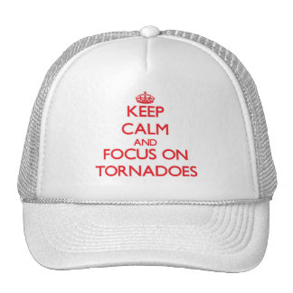 Mantenha a calma e o foco em furacões boné
