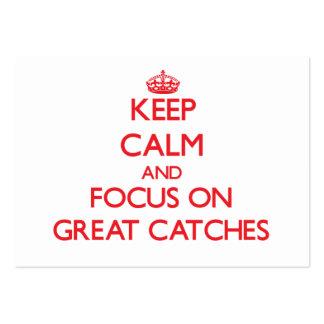 Mantenha a calma e o foco em grandes capturas