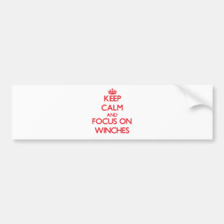 Mantenha a calma e o foco em guinchos adesivo para carro