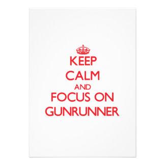 Mantenha a calma e o foco em Gunrunner