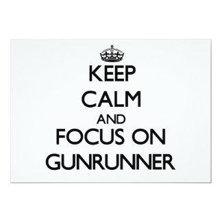 Mantenha a calma e o foco em Gunrunner Convites Personalizado