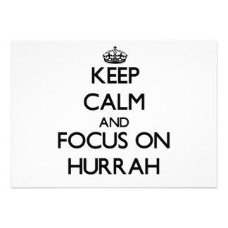 Mantenha a calma e o foco em Hurrah Convite Personalizado