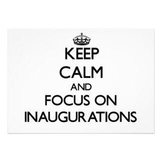 Mantenha a calma e o foco em inaugurações