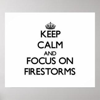 Mantenha a calma e o foco em incêndios posteres