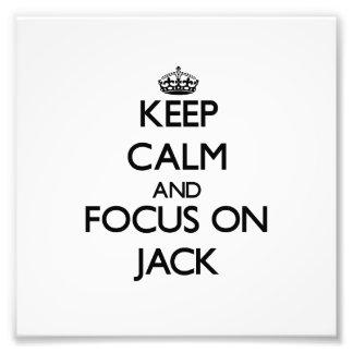 Mantenha a calma e o foco em Jack Fotografia