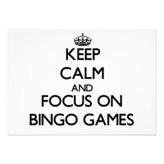 Mantenha a calma e o foco em jogos do Bingo