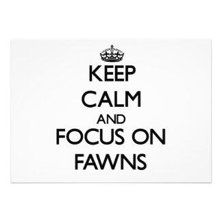 Mantenha a calma e o foco em jovens corças