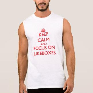 Mantenha a calma e o foco em jukebox