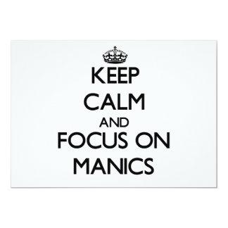 Mantenha a calma e o foco em Manics Convite