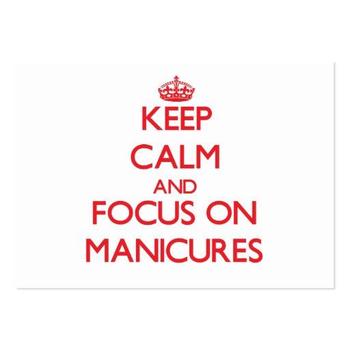 Mantenha a calma e o foco em Manicures Modelos Cartão De Visita