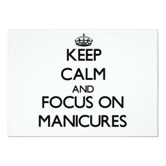 Mantenha a calma e o foco em Manicures Convite Personalizados