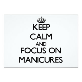 Mantenha a calma e o foco em Manicures Convite 12.7 X 17.78cm