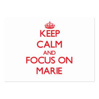 Mantenha a calma e o foco em Marie