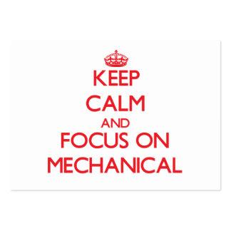 Mantenha a calma e o foco em mecânico