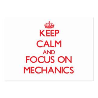 Mantenha a calma e o foco em mecânicos