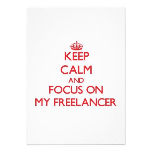 Mantenha a calma e o foco em meu Freelancer Convites Personalizados