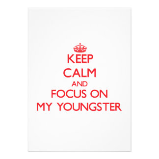 Mantenha a calma e o foco em meu jovem convites personalizados