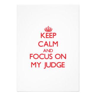 Mantenha a calma e o foco em meu juiz