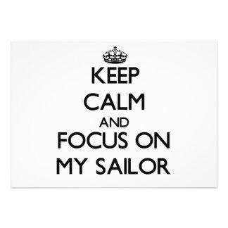 Mantenha a calma e o foco em meu marinheiro