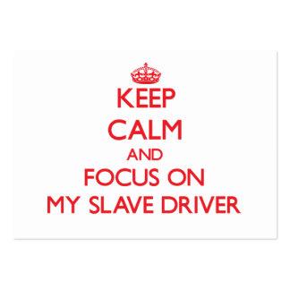 Mantenha a calma e o foco em meu motorista de escr