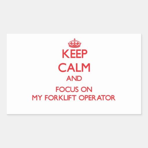 Mantenha a calma e o foco em meu operador da adesivo retangular
