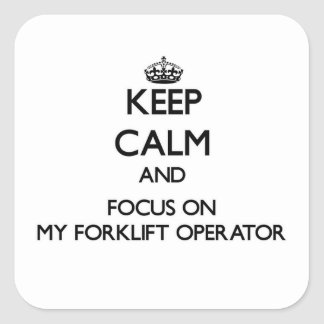 Mantenha a calma e o foco em meu operador da empil