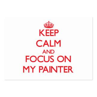 Mantenha a calma e o foco em meu pintor