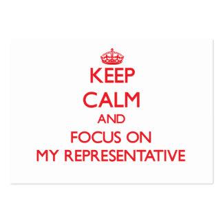 Mantenha a calma e o foco em meu representante