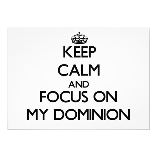 Mantenha a calma e o foco em minha autoridade convites personalizado