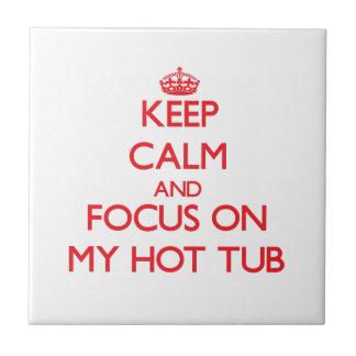 Mantenha a calma e o foco em minha banheira de hid azulejos