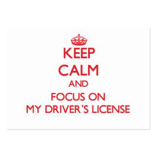 Mantenha a calma e o foco em minha licença de moto