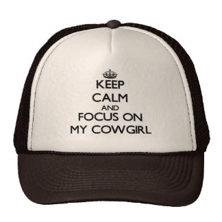 Mantenha a calma e o foco em minha vaqueira