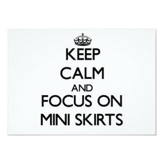Mantenha a calma e o foco em mini saias convite personalizado