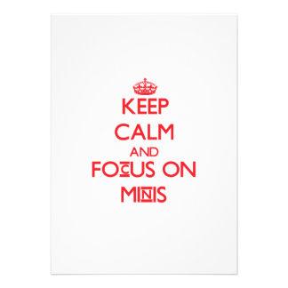 Mantenha a calma e o foco em Minis