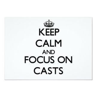 Mantenha a calma e o foco em moldes convites personalizados