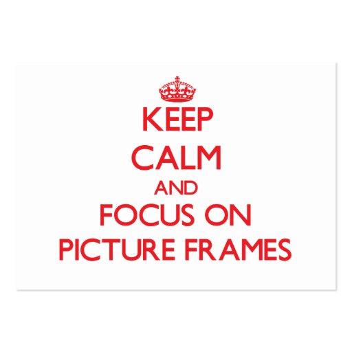 Mantenha a calma e o foco em molduras para retrato modelo cartão de visita