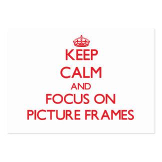 Mantenha a calma e o foco em molduras para retrato cartão de visita grande