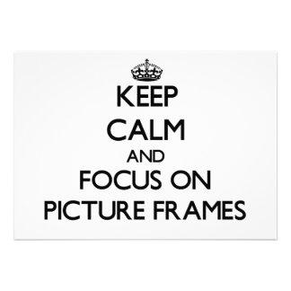 Mantenha a calma e o foco em molduras para retrato convite personalizado