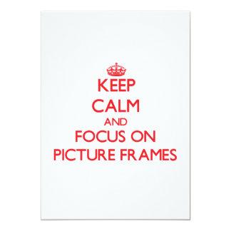 Mantenha a calma e o foco em molduras para retrato convite 12.7 x 17.78cm
