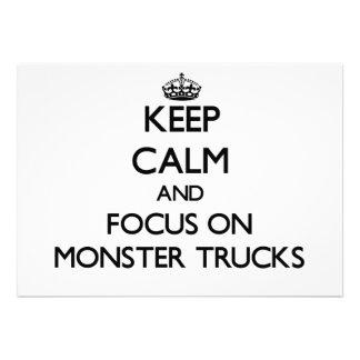 Mantenha a calma e o foco em monster truck